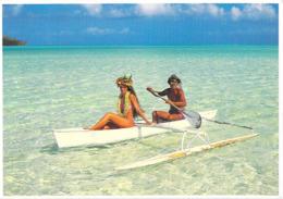 Polynésie Française- Pirogue Polynésienne Traditionnelle Pour Deux Personnes(Photo Teva Sylvain Tahiti 1048 @PRIX  FIXE - Polynésie Française