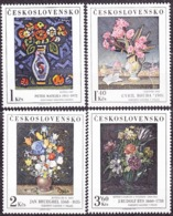 Tschechoslowakei Czech CSSR 1976: Fleurs De PETER MATEJKA CYRIL BOUDA JAN BRUEGHEL RUDOLF BYS Michel 2351-2354 ** MNH - Pflanzen Und Botanik