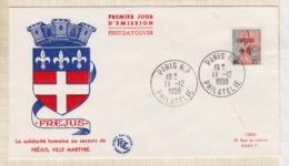 9/503 Premier Jour FDC 1959 FREJUS VILLE MATYRE - FDC