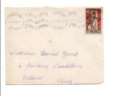 N°1050 SEUL SUR LETTRE DE SAINT GERVAIS LES BAINS 1956 - 1921-1960: Modern Tijdperk