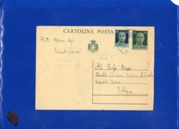 ##(DAN1910)-21-5-1945-Cartolina Postale Cent 60 Con Valore Gemello Cent.60 In Tariffa L.1,20 Da Racale-Lecce Per Bologna - 5. 1944-46 Luogotenenza & Umberto II