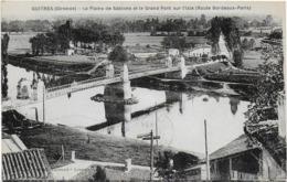 CPA - GUITRES - LA PLAINE DE SABLONS ET LE GRAND PONT SUR L'ISLE ( ROUTE BORDEAUX-PARIS ) - 1934 - Other Municipalities
