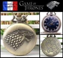 Montre Gousset NEUVE ! ( Pocket Watch ) - GOT Game Of Thrones Maison Stark ( A2 ) - Montres Gousset