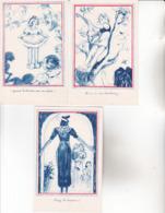 CPA ILLUSTRATEUR ,5 Cartes Non écrites. (Comité National De L'Enfance ,Paris) - Illustrateurs & Photographes