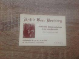 Carte De Visite De Bar à Bière  Hall' S  Beer  Bremerg      Paris 1er - Cartes De Visite