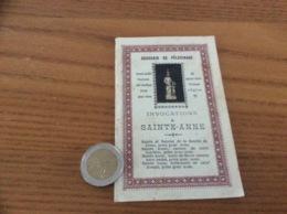 Image Pieuse 2 Volets «INVOCATIONS À SAINTE-ANNE - DIEULANGARD, Vic. Cap.» - Religion & Esotericism