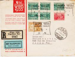 """AUTRICHE , De Wien, Exposition Philatélique """"Wipa 1933 """" Par Avion  TB - Poststempel - Freistempel"""