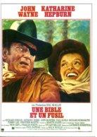 Réf. 482/ 1 CPM - Carte Postale Cinéma - Une Bible Et Un Fusil John Wayne Katharine Hepburn - Manifesti Su Carta