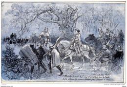 Illustrateur  ROBIDA  Jeanne D'Arc  24 Mai 1430  Marche De Nuit De Crépy à Compiègne Par La Forêt.... 2 Scans - Robida