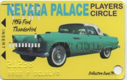 Carte De Membre Casino : Nevada Palace Players SILVER Circle : 1956 Ford Thunderbird (Troué) - Cartes De Casino