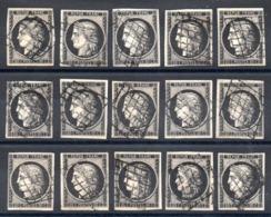 YT N° 3a X15 - Cote: 1050,00 € - 1849-1850 Ceres