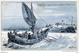 Illustrateur  ROBIDA  Jeanne D'Arc Remise Aux Anglais à ST Valéry Sur Somme   Décembre 1430 .... 2 Scans - Robida