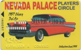Carte De Membre Casino : Nevada Palace Players SILVER Circle : 1957 Chevy Bel Air - Cartes De Casino