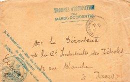 "L- Cachet: "" Troupes D'Occupation Du Maroc Occidental ""- Casablanca- - Marcofilia (sobres)"