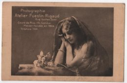 SWITZERLAND Carte Publicitaire Photographie Atelier FUESLIN RIGAUD GENEVE Guitton Successeur - GE Geneva