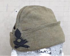 Bustina Vintage E.I. Invernale In Panno Kaki Anni '50 Artiglieria - Hoeden