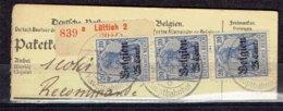 OC Bande De Trois Du 18 - Luttich-Hauptbahnhof Le 26-8-1918 - Recommandé - [OC1/25] General Gov.