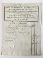 Facture Paris 1787. A L'Image Notre-Dame. Saint-honoré. Tissus Pour Meubles. - ... - 1799