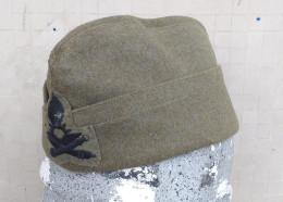 Bustina Vintage E.I. Invernale In Panno Kaki Del 1949 Artiglieria Marcata - Headpieces, Headdresses