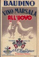 ETICHETTA LABEL VINO MARSALA ALL'UOVO BAUDINO TORINO - Labels