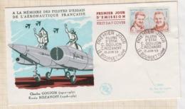 9/522 Premier Jour FDC 1959 GOUJON ROZANOFF PILOTES ESSAIS - FDC