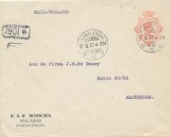 Nederlands Indië - 1927 - 12,5 Cent Wilhelmina , Envelop G47 Met Particuliere Opdruk Van LB PENGALENGAN Naar Amsterdam - Netherlands Indies