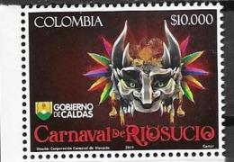 COLOMBIA, 2019, MNH, MASKS, CARNIVAL, 1v - Carnival