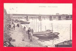 F-92-Asnieres-01P82  Le Pont D'Asnières, Barques, Animation, Cpa Précurseur BE - Asnieres Sur Seine