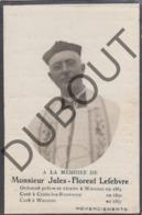 Doodsprentje Pastoor Jules-Florent Lefebvre °1859 Wasmes †1921 - Curé à Croix-lez-Rouveroy (G168) - Décès