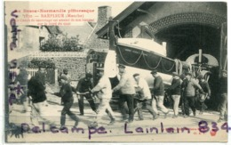- 1830 - BARFLEUR - ( Manche ) - Le Canot De Sauvetage Est Sortie De Son Hangar, écrite, TBE, Scans.. - Barfleur