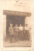 """49 - BEAUFORT-EN-VALLÉE - Carte-photo MARÉCHAL-FERRANT Adolphe COLAISSEAU - (""""FERRURES FRANÇAISES - FERRURES ANGLAISES"""") - Autres Communes"""
