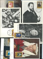 Peintres  Série N° 1076/81  Obl. 23/01/59 - Maximum Cards