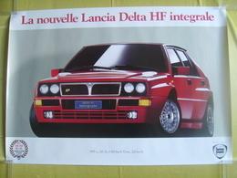 Affiche De Concessionnaire Lancia Delta HF Intégrale Champion Du Monde Rallye 1987.88.89.90.91 - Posters