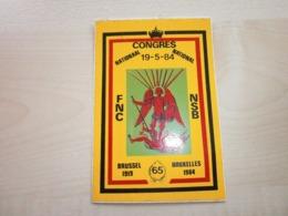 Autocollant Ancien CONGRES NATIONAL FNC BRUXELLES - Sammelbilder, Sticker
