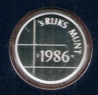 1986 * Zilveren Penning (.925) 5,5 Gram  Uit PROOF-SET  * NEDERLAND * Zilverprijs - [ 3] 1815-… : Kingdom Of The Netherlands