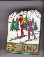 Pin's S  SKI ASC PARIS BNP SIGNE BALLARD - Associations
