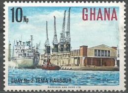 Ghana - 1967 Tema Harbour 10np MNH **    Sc 294 - Ghana (1957-...)