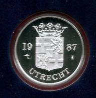 1987 * Zilveren Penning (.925) 5,5 Gram  Uit PROOF-SET  * NEDERLAND * Zilverprijs - [ 3] 1815-… : Kingdom Of The Netherlands