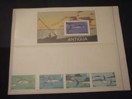 ANTIGUA - 1979 PESCI 4 VALORI + BF - NUOVI(++) - Antigua E Barbuda (1981-...)