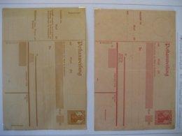 Deutschland/ Deutsches Reich- 2 Postanweisungen Mit Germania Ungebraucht - Deutschland