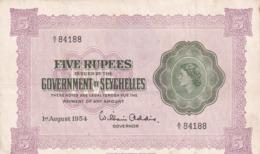 Seychelles 5 Rupees 1954 - Seychellen