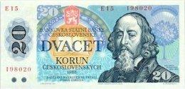 Czechoslovakia 20 Koron 1988  Pick 95 UNC - Czechoslovakia