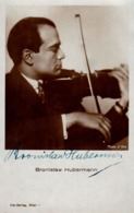 JUDAÏCA - VIOLONISTE BRONISLAW HUBERMANN Avec AUTOGRAPHE ORIGINAL !!! - IRIS VERLAG / WIEN ~ 1930 - RRR !!! (ad214) - Musique Et Musiciens