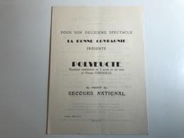 Programme POLYEUCTE Tragedie Chretienne Au Profit Du Secours National - 1941 - BONE ALGERIE - Programas