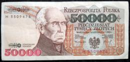50 000 Zlotych 1993 POLAND POLEN POLOGNE Series Serie H - Polonia