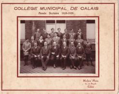 CALAIS.(62) Photo De Classe: Collège Municipal De Calais . Année 1928-1929 . Classe De 2 Eme - Lugares
