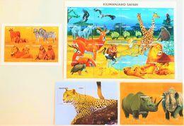 # Tanzania 1995**Mi.2168-2189 Animals In Kilimanjaro ,  MNH [25;11] - Sellos