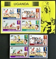 # Uganda 1978**Mi.171-74 + Bl.9  Football World Cup, Argentina , MNH  [20;4] - 1978 – Argentina