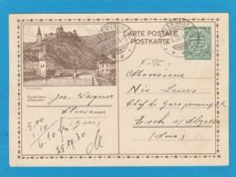 NO 95. ENTIER POSTAL AVEC VUE DE VIANDEN ET CACHET DE CLERVAUX POUR ESCH/ALZETTE. - Ganzsachen