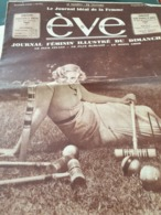 EVE /MADGE EVANS CROQUET /FEMME SPORTS NATATION /RAIMU TARTARIN /CHAPEAUX - Books, Magazines, Comics